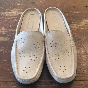 Kim Rogers tan slide on loafers size 9
